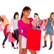 Small group shopping girl — Stock Photo #18706249