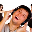 Man is listening to the music — Stock Photo #18723733