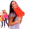 Small group shopping girl — Stock Photo #18735485