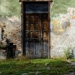 Old brown wooden door - Stock Photo