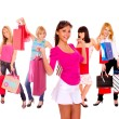 Small group shopping girl — Stock Photo #18737937