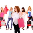 Small group shopping girl — Stock Photo #18737991