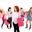 Small group shopping girl - Stock Photo