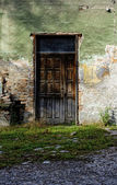 Old brown wooden door — Stock Photo