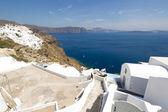 Santorini'de oia görüntüleyin — Stok fotoğraf