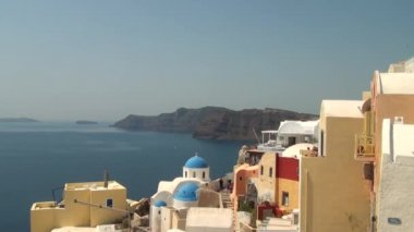 Oia santorini — Stockvideo