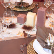 Stock Photo: Table set for a wedding