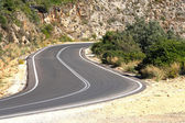 Road in cretan mountains — Stock Photo