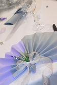 Table set for a wedding — Stockfoto