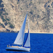 Stock Photo: Sailing yacht