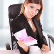 Young business woman standing — Stock Photo #18870463