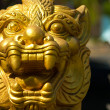 Thai dragon gold statue  — Stock Photo