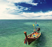 Boot in phuket thailand — Stockfoto