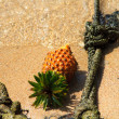 Pineapple on the beach - Stock Photo