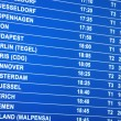 Royalty-Free Stock Photo: Flights information board in airport