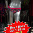 Bikini sales offer - Stock Photo