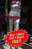 Bikini försäljning erbjudande — Stockfoto