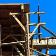 Building structure with blue sky. - Foto Stock