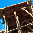 Building structure with blue sky. - Stok fotoğraf