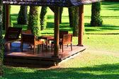 Backyard tropical garden — Stock Photo