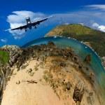 knappe man duiken in thailand — Stockfoto
