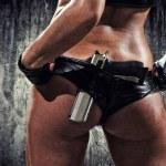 Woman with gun — Stock Photo #19635687