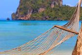 Hammock on Phi Phi beach — Stock Photo