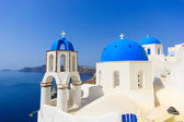 Dome church in Santorini Greece — Stock Photo