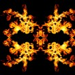 Blazing fire shape - Stock Photo