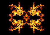 Blazing fire shape — Stock Photo
