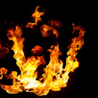 Stock Photo: Blazing fire shape
