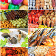 Collage from Photographs of thai food - Stok fotoğraf