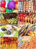 Collage from Photographs of thai food — Stock Photo
