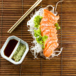Royalty-Free Stock Photo: Sliced raw salmon sashimi