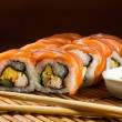 Yummy Fresh Sushi rolls - Stok fotoraf