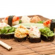 Yummy Fresh Sushi rolls - Stock Photo