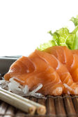 Sliced raw salmon sashimi — Stock Photo