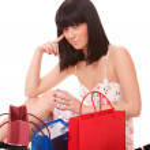 Shopping women smiling. — Stock Photo #2348159