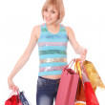 Shopping women smiling — Stock Photo #2353375