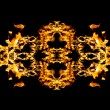 Fire patern kaleidoscope - Stock Photo