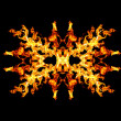 Fire patern kaleidoscope — Stock Photo #23554301