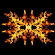 Stock Photo: Fire patern kaleidoscope