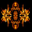 Fire patern kaleidoscope — Stock Photo #23554315