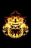 Feuer patern kaleidoskop — Stockfoto