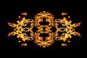 Fire patern kaleidoscope — Stock Photo