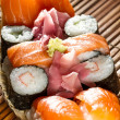 Yummy Fresh Sushi rolls — Stock Photo #23861559