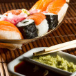 Yummy Fresh Sushi rolls — Stock Photo