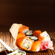 Yummy Fresh Sushi rolls — Stock Photo #23862799