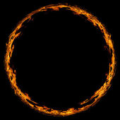 Circle of fire — Stock Photo