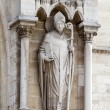 Sculptures of saints of Notre Dame de Paris — Foto Stock